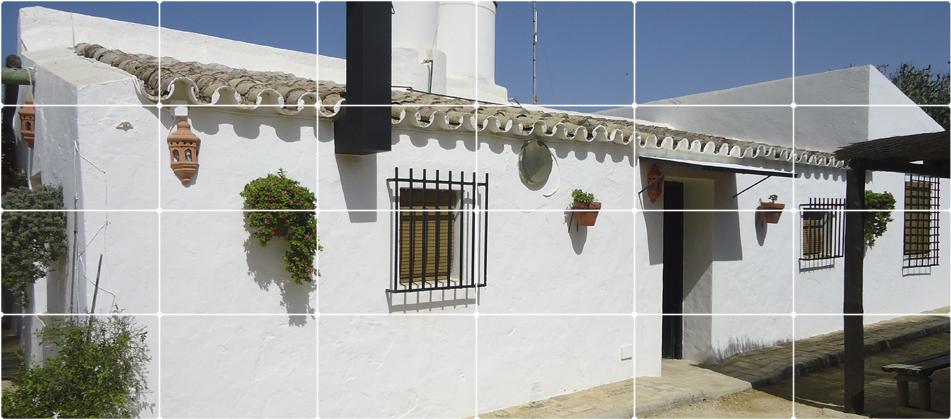 fachada cortijo caserio